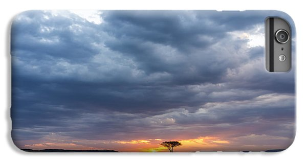 Africa iPhone 6 Plus Case - Beautiful Sunset In The Savannah Of by Lmspencer