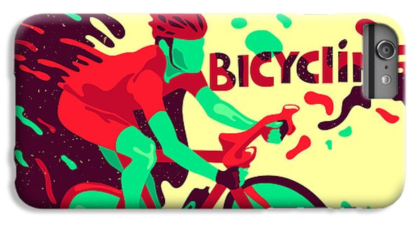 Workout iPhone 6 Plus Case - Bicycling. Healthy Lifestyle. Sports by Daria i