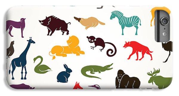 Lion iPhone 6 Plus Case - Big Set Of African And European Animals by Baldyrgan