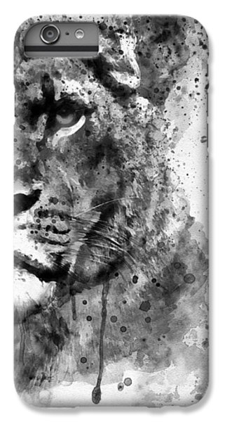 Lion Head iPhone 6 Plus Case - Black And White Half Faced Lioness by Marian Voicu