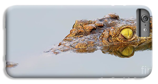 Africa iPhone 6 Plus Case - Close-up Of A  Nile Crocodile With by Johan Swanepoel