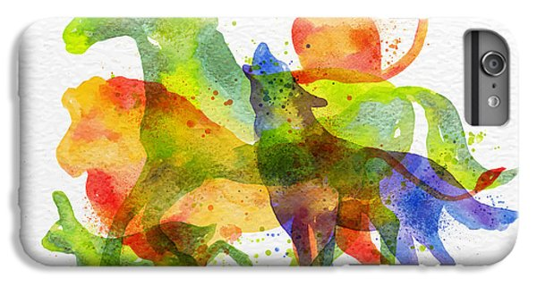 Lion iPhone 6 Plus Case - Color Animals ,horse, Wolf, Monkey by Anna42f
