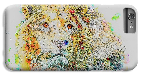 Lion Head iPhone 6 Plus Case - Colorful Lion by ArtMarketJapan
