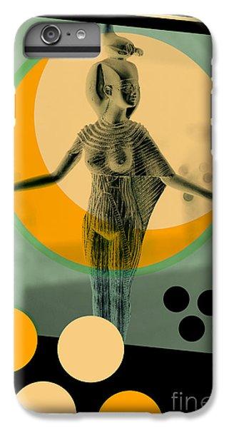 Africa iPhone 6 Plus Case - Egypt Statue Retro Design Poster by Bruno Ismael Silva Alves