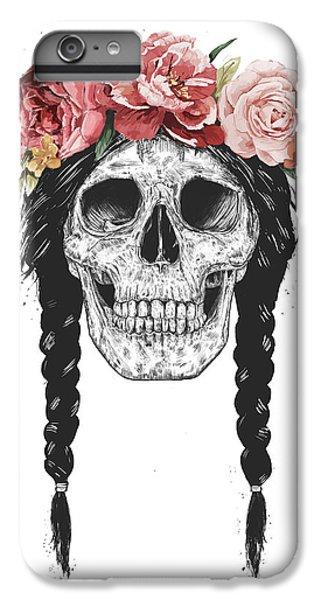 Nature iPhone 6 Plus Case - Festival Skull by Balazs Solti
