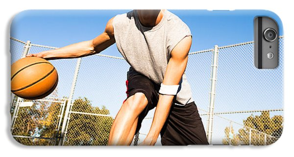 Workout iPhone 6 Plus Case - Fit Male Playing Basketball Outdoor by Pkpix