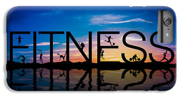 Workout iPhone 6 Plus Case - Fitness Concept by Aged Pixel