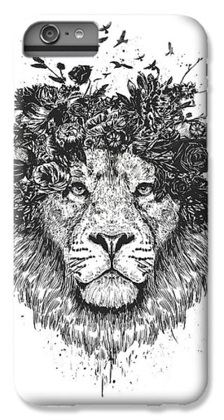 Nature iPhone 6 Plus Case - Floral Lion by Balazs Solti