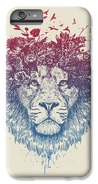 Nature iPhone 6 Plus Case - Floral Lion IIi by Balazs Solti