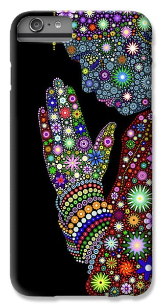 Floral iPhone 6 Plus Case - Flower Prayer Girl by Tim Gainey