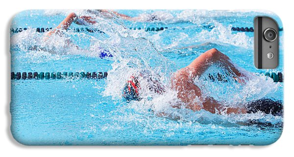 Workout iPhone 6 Plus Case - Freestyle Swimmers Racing by Suzanne Tucker