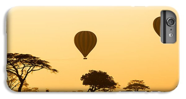 Africa iPhone 6 Plus Case - Hot Air Balloons Over The Serengeti At by Jez Bennett