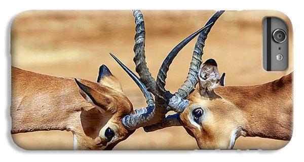 Africa iPhone 6 Plus Case - Impalas Fighting At Samburu by Matthieu Gallet