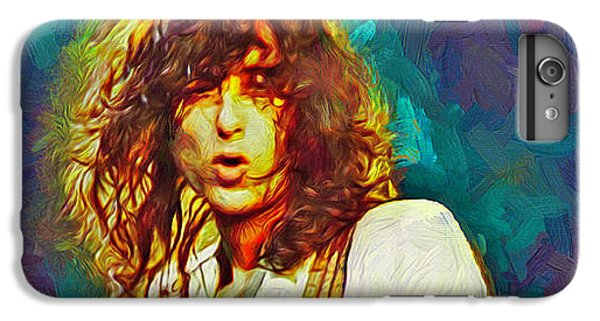 Rock Music Jimmy Page iPhone 6 Plus Case - Jimmy Page by Mal Bray