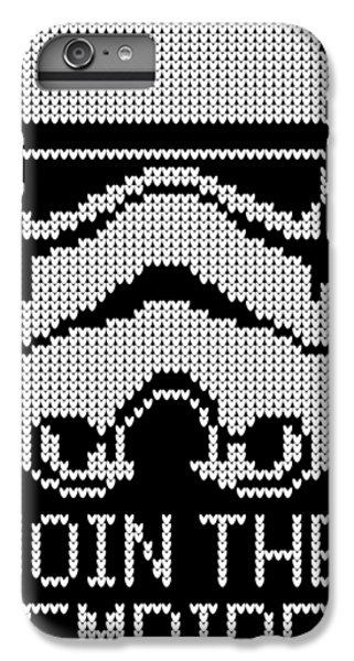 Han Solo iPhone 6 Plus Case - Knitted Storm Trooper - Join The Empire by Filip Hellman