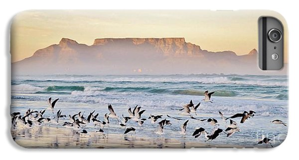Africa iPhone 6 Plus Case - Landscape With Beach And Table Mountain by Werner Lehmann