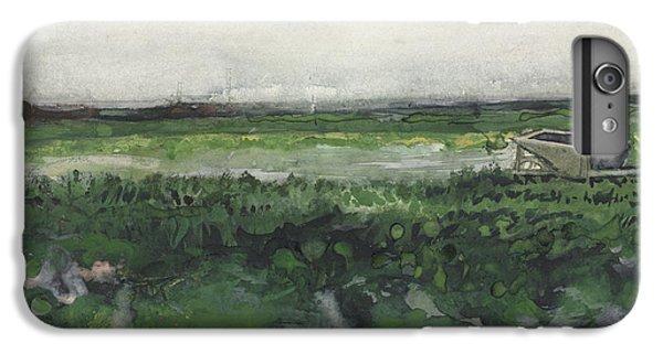 Barren iPhone 6 Plus Case - Landscape With Wheelbarrow, 1883  by Vincent Van Gogh
