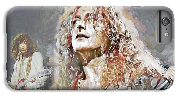 Rock Music Jimmy Page iPhone 6 Plus Case - Led Zeppelin by Mal Bray