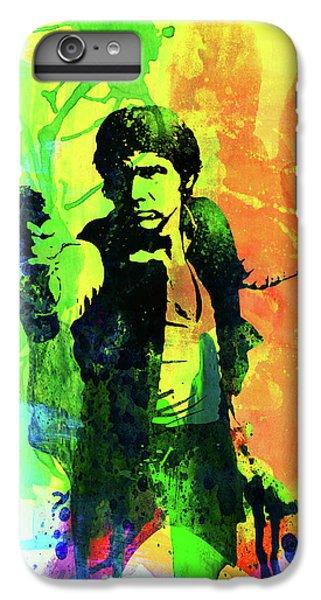 Han Solo iPhone 6 Plus Case - Legendary Han Solo Watercolor by Naxart Studio