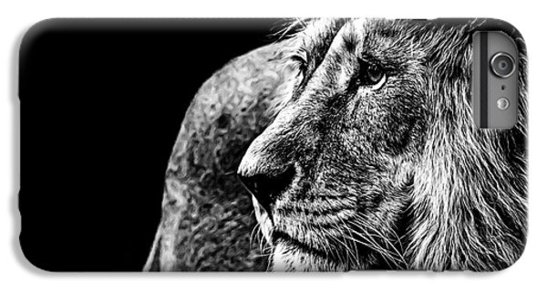 Lion iPhone 6 Plus Case - Lion In Black And White by Joerg Huettenhoelscher