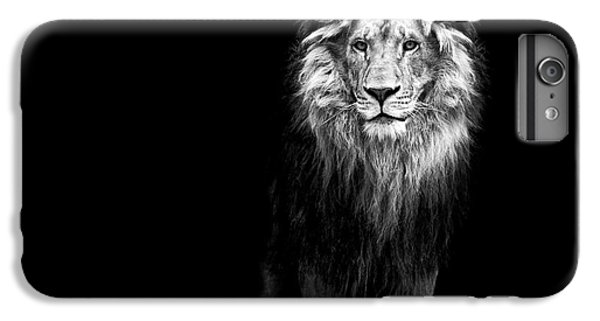 Lion Head iPhone 6 Plus Case - Portrait Of A Beautiful Lion, In The by Baranov E