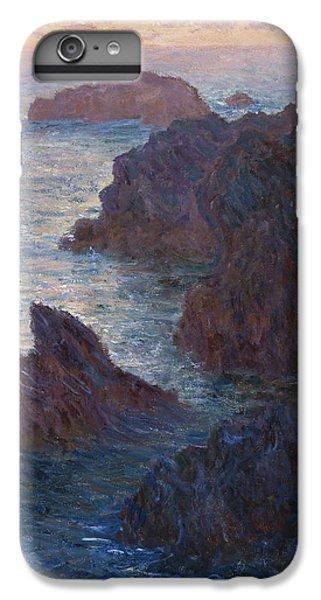 Barren iPhone 6 Plus Case - Rocks At Belle-lle, Port-domois, 1886 by Claude Monet