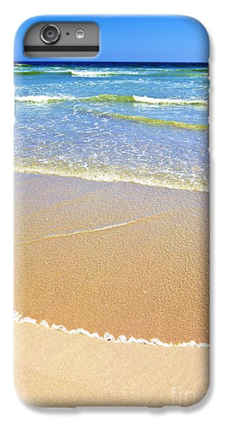 Africa iPhone 6 Plus Case - Sandy Beach And Ocean On A Sunny Day by Johan Swanepoel