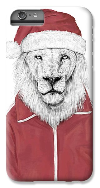 Lion iPhone 6 Plus Case - Santa Lion  by Balazs Solti