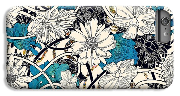 Floral iPhone 6 Plus Case - Seamless Pattern With Beautiful Flowers by Tithi Luadthong
