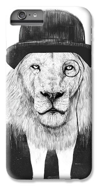 Lion iPhone 6 Plus Case - Sir Lion by Balazs Solti