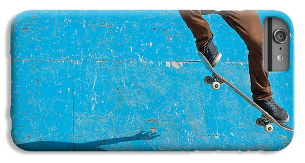 Workout iPhone 6 Plus Case - Skateboarder Doing A Skateboard Trick - by Pio3