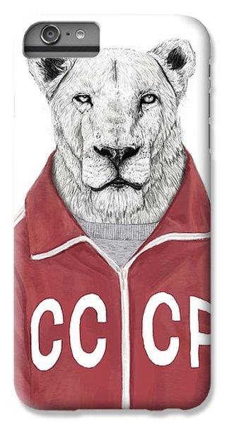 Lion iPhone 6 Plus Case - Soviet Lion by Balazs Solti