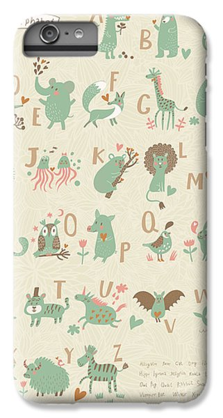 Lion iPhone 6 Plus Case - Stylish Zoo Alphabet In Vector. Lovely by Smilewithjul