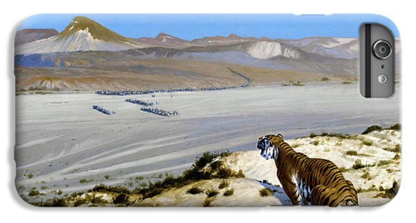 Barren iPhone 6 Plus Case - Tiger On The Watch - Digital Remastered Edition by Jean-Leon Gerome