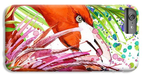 Africa iPhone 6 Plus Case - Tropical Bird. Cute Flamingo by Faenkova Elena