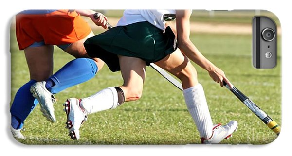 Workout iPhone 6 Plus Case - Two Women Battle For Control Of Ball by Racheal Grazias