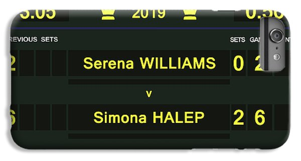 Venus Williams iPhone 6 Plus Case - Wimbledon Scoreboard - Customizable - 2017 Muguruza by Carlos Vieira