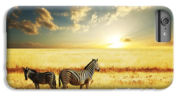 Africa iPhone 6 Plus Case - Zebras At Sunset by Galyna Andrushko
