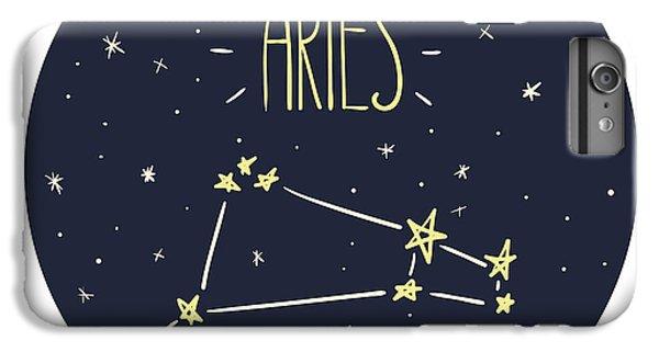 Lion iPhone 6 Plus Case - Zodiac Signs Doodle Set - Aries by Radiocat
