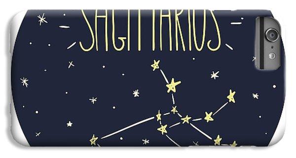 Lion iPhone 6 Plus Case - Zodiac Signs Doodle Set - Sagittarius by Radiocat