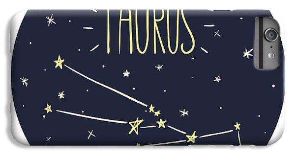 Lion iPhone 6 Plus Case - Zodiac Signs Doodle Set - Taurus by Radiocat