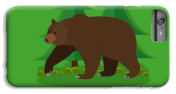 Lion iPhone 6 Plus Case - Zoo Concept Banner. Wildlife Bear by Skypics Studio