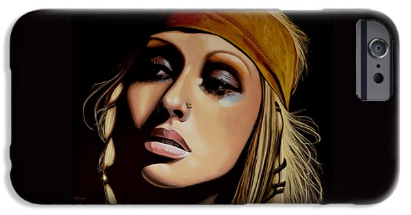 Christina Aguilera Painting IPhone 6s Case by Paul Meijering