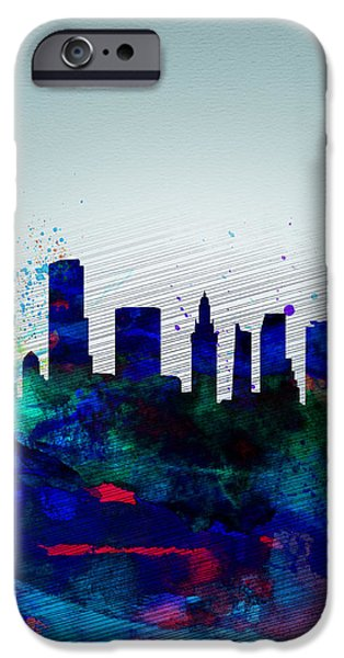 Miami iPhone 6s Case -  Miami Watercolor Skyline by Naxart Studio