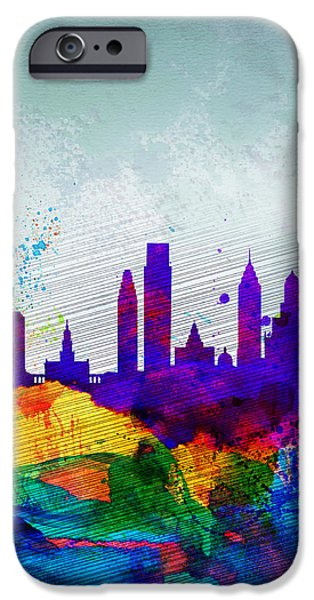 Philadelphia iPhone 6s Case -  Philadelphia Watercolor Skyline by Naxart Studio