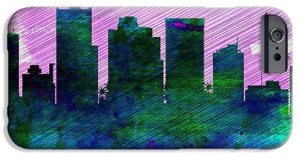 Phoenix City Skyline IPhone 6s Case by Naxart Studio