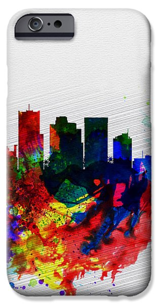 Phoenix Watercolor Skyline 2 IPhone 6s Case by Naxart Studio