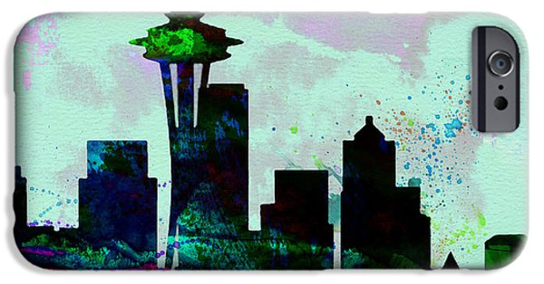 Seattle City Skyline IPhone 6s Case by Naxart Studio