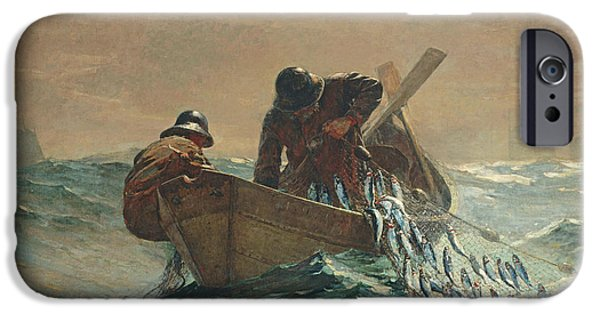 Contemporary Realism iPhone 6s Case -  The Herring Net by Winslow Homer
