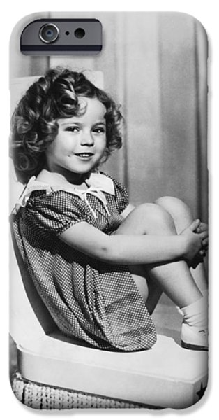 Shirley Temple iPhone 6s Case - Actress Shirley Temple by Underwood Archives